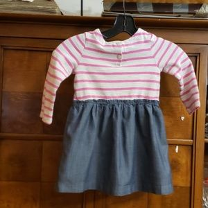BABYGAP PINK AND GRAY DRESS SIZE 3 YEARS